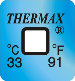 Thermax temperatuur indicator 33°C