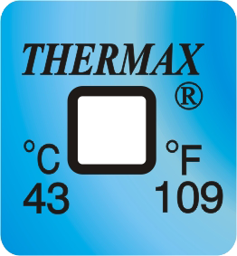 thermax temperatuur indicatoren 43°