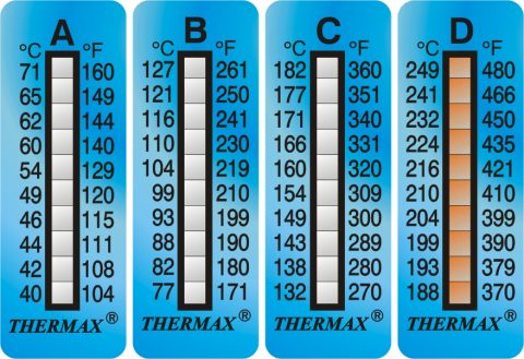 Blanken Controls Thermax 10 Level strips temperatuurlabels