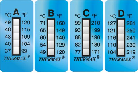 Thermax 5 level strips temperatuur indicatoren