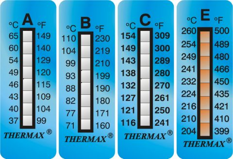 Thermax 8 Level Strips temperatuur indicator strips