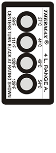 Thermax 4 level A strips temperatuur indicatoren