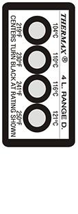 Thermax 4 level D strips temperatuur indicatoren