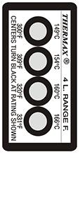 Thermax 4 level F strips temperatuur indicatoren