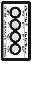 Thermax 4 level G strips temperatuur indicatoren