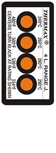 Thermax 4 level J strips temperatuur indicatoren