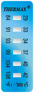 Thermax 6 level 1 mini strips temperatuur indicatoren