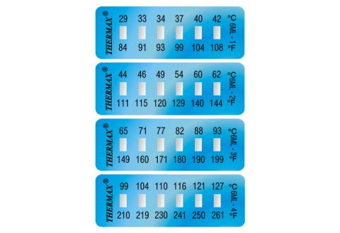 temperatuurstrips temperatuurstickers thermax 6-level